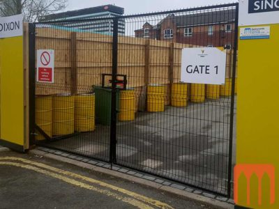 Temporary Site Double Gate